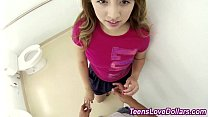 Pov teen spermed public