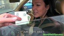 Eurosex girlnextdoor creampied in a car