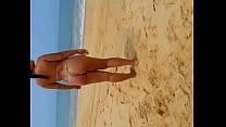 novinha na praia