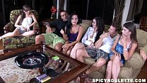 Cock-loving teens answering sex questions and p...