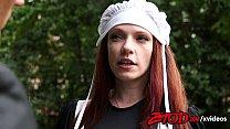 Innocent redhead Kassondra Raine wants to know ...