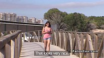 fuc... then beach the on walking babe amateur Nude