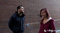 Horny neighbor: Jordana gives his prize to a gu...