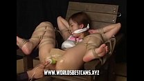 Hot Japanese Girl Tied And Tortured On Live Sho...