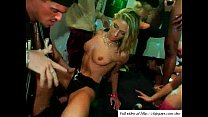 Hot sex orgy under foam in VIP club
