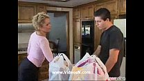 Mature Kelly fuck by deliver boy