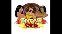 Double blowjob NDNgirls.com native american por...