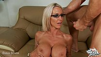 cock rides she while bounce tits milky big starr's Emma