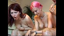 3 Naked Girls Vomit Puke Puking Vomiting Gaggin...
