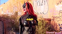 Milf Shanda Fay Sucks Cock Outside as BatGirl!