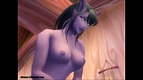 World of Warcraft draenei and nightelf porn (ellowas)