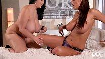 Big Titty Lesbians wear Strap-on Dildo's and Fu... thumb