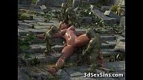 3D Elven Princess Gangbanged! thumb