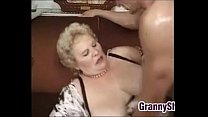 Fat And Busty Granny Enjoying A Cock