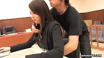 tai phim sex -xem phim sex Asian lawyer has a hot threesome in the court room