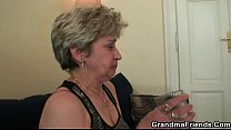 Naughty old granny takes two cocks porn videos