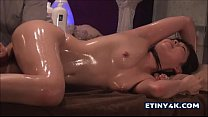 Hot oil massage with two amazing asian girls