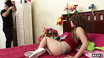 max the to stretched teen latina 18-year-old Beautiful