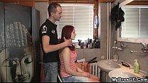 Slutty bitch cheats with hairdresser