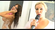 2 hot telephone TV sex babes showering