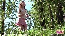 farmer s daughter flashing her panties outdoors