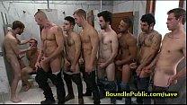 restroom public in cummed face gay Bound
