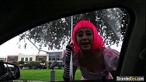 pounded gets n ride a hitches monroe natalie teen Cosplayer