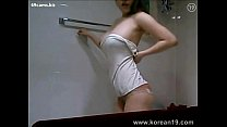 korean hot beauty taking a shower