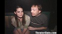Theater Slut April Hippie Girl Public Group Sex...