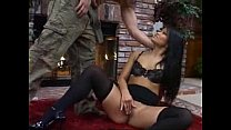Very sexy asian woman fucks her man