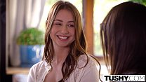 TUSHY Hot Babysitter Taylor Sands Enjoys Anal