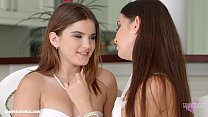 Passionate lesbian sex with Evalina Darling and...