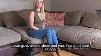 British fake agent bangs deep throat blonde porn videos