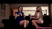 Glam lesbians toy analplay after oral foreplay