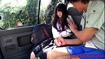 Tiny Japanese schoolgirl mouth fucked in car - ... thumb
