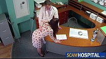 hot brunette sabina gets fucked by her doctor from behind