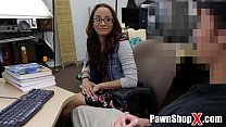 shop pawn in cash for ass her trades glasses with amateur Skinny