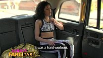 Female Fake Taxi Fitness babe stretches her pussy porn videos