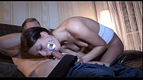Teen playgirl pleases her stud
