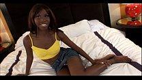 ebony teen slut takes jizz