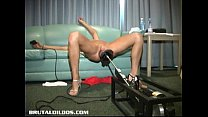 machine dildo brutal a by slammed Eve
