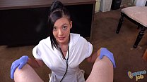 Busty Nurse Marley Brinx does handjob