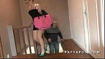 Papy baise une jeune petite francaise avec son copain porn videos