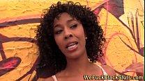 Lingerie ebony spunk face thumbnail