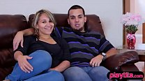 Real amateur couple tries swinging for the firs…