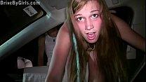 Hot blonde teen girl Alexis Crystal PUBLIC gang...