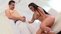 Finally! Big boobed Tania's very first porn scene!