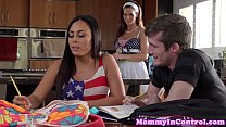 brat teenage with cumswapping stepmom Busty