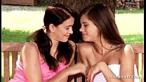 Caprice white dress and Susan kiss passionately...