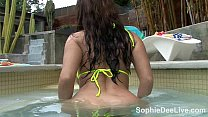 Beautiful Brit Sophie Dee teasing and pleasing ...